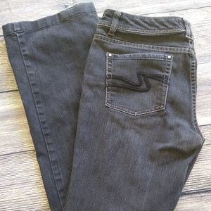 White House Black Market black denim jeans 8R